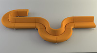 3d model modular lounge seating sofas