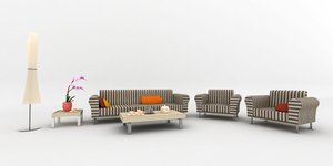 couch suite lounger sitting room 3d xsi