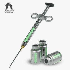 3d model syringe medicine