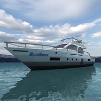 realtime yacht 3d c4d
