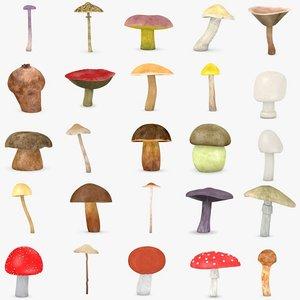 25 mushrooms 3d 3ds