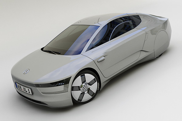 3ds max volkswagen xl1 concept car