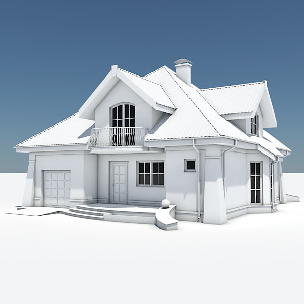3d Single House Garage