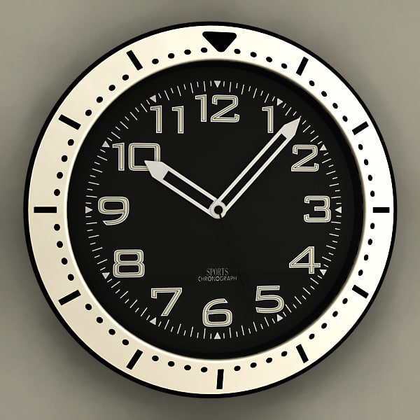 analog wall clock 3ds