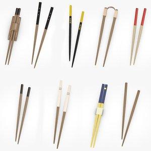 3d model chopsticks chop stick