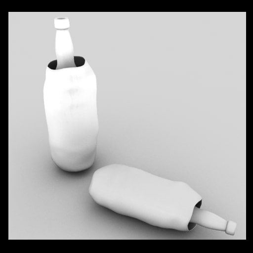 3d model alcohol bottles sack