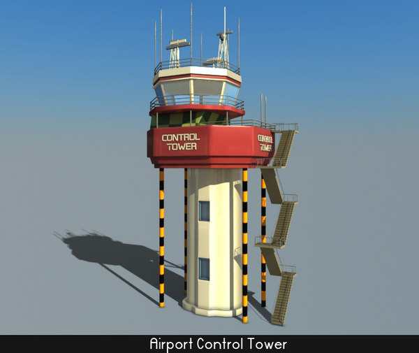 airport control tower obj
