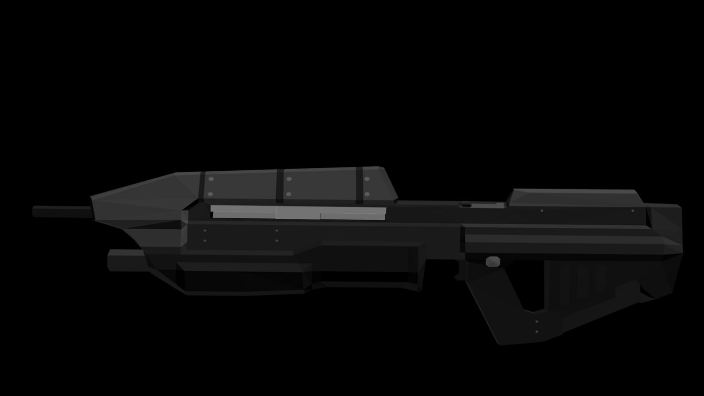 free assault rifle 3d model