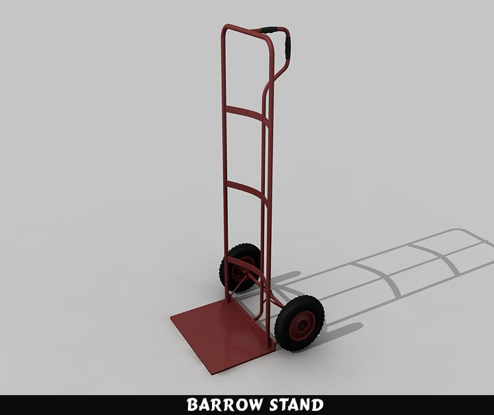 barrow stand 3d max