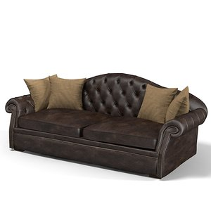 3d model brunozampa extended sofa