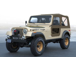 jeep cj 7 golden eagle c4d