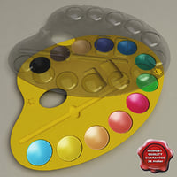 plastic paint pallet 3d model