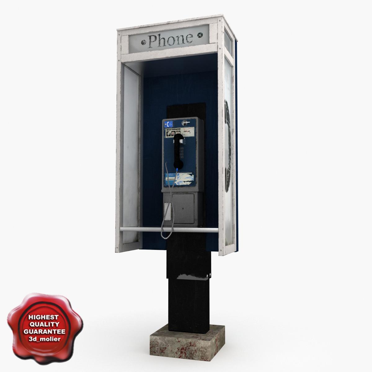 3d pay phone v4 model