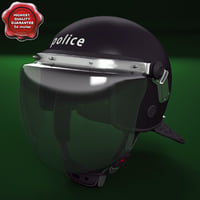 3d police helmet fbk-208