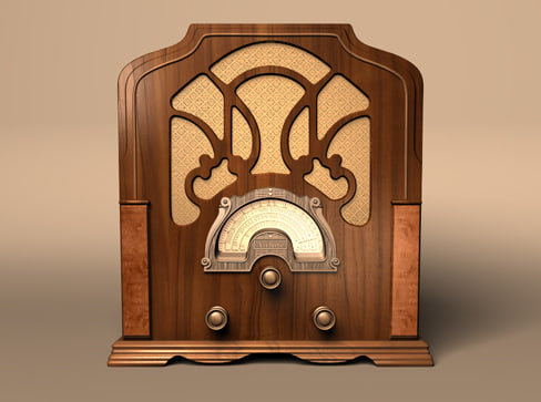 3d model airline radio