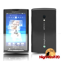 details sony ericsson xperia 3d model