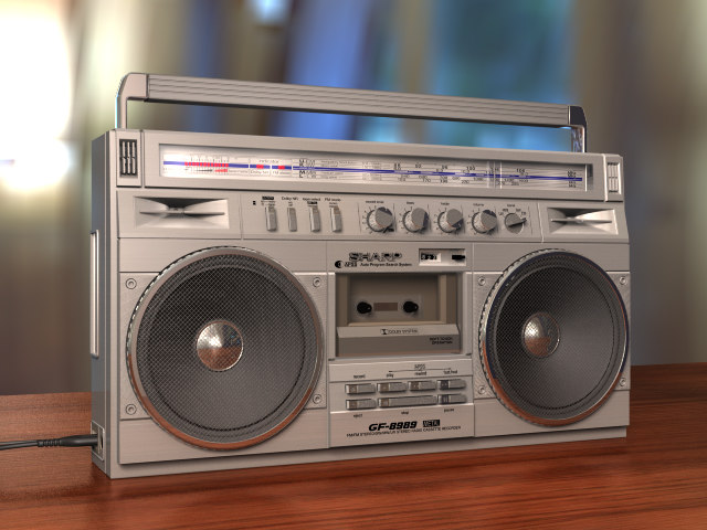 3d c4d sharp radio cassette recorder