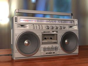 3d c4d sharp radio cassette recorder