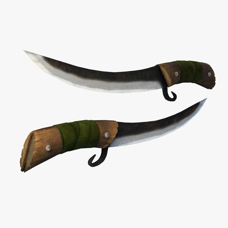 3dsmax old hunter knife
