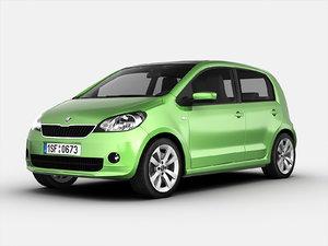 3d model of skoda car