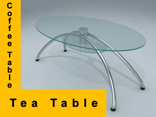 tea coffee table 3d max