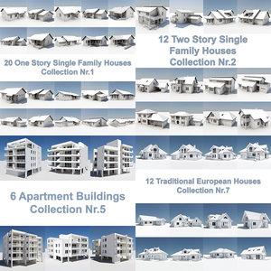 ultimate house pack building 3d model