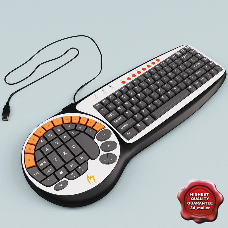 zykon k2 gamer keyboard 3d 3ds