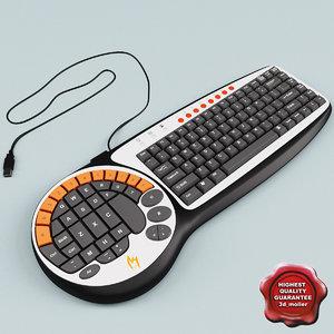 zykon k2 gamer keyboard 3d 3ds