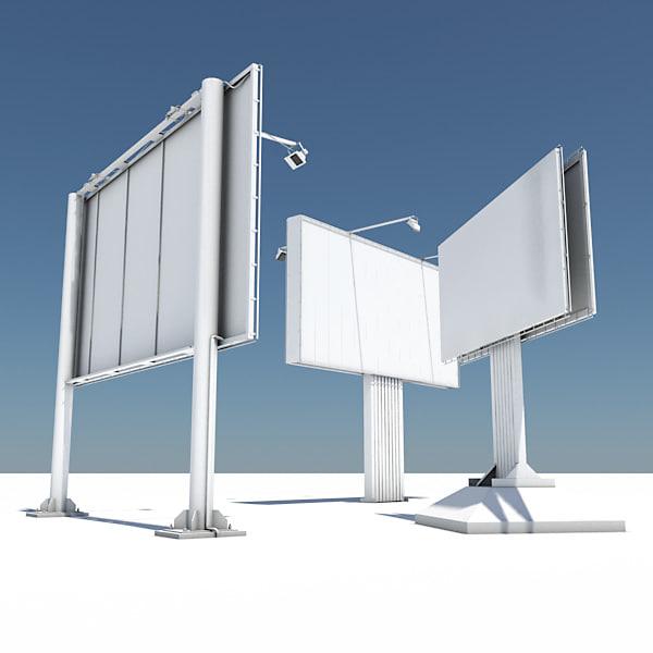 3d pack 3 billboard model