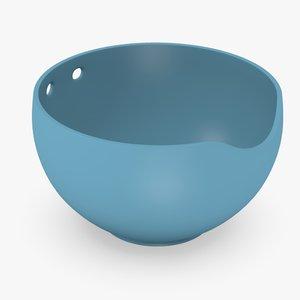 3d asian bowl