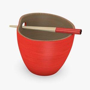 bowl chopsticks obj