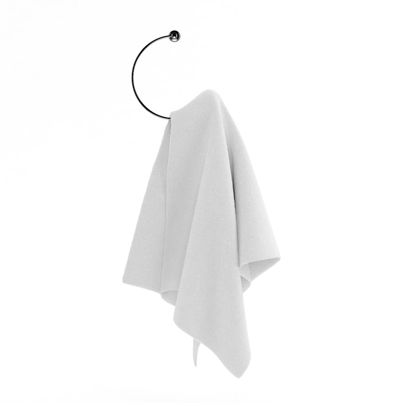 3d white hanging towel