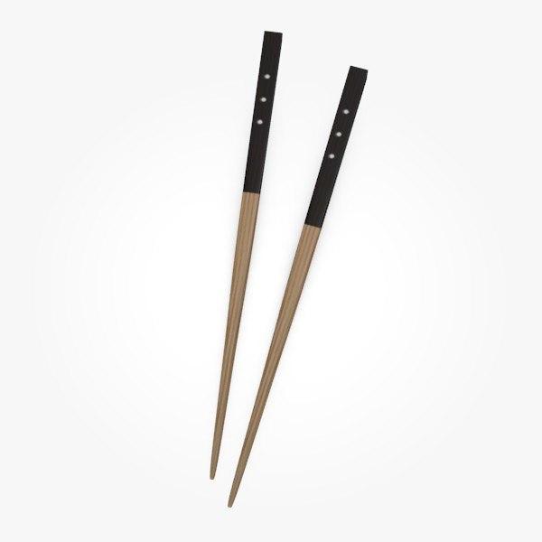 3d chopsticks model