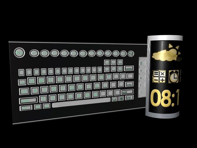 3d keyboard model