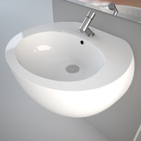 Wall hung Egg Pod wash-basin