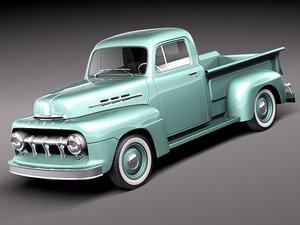 f1 pickup 1951 3d model