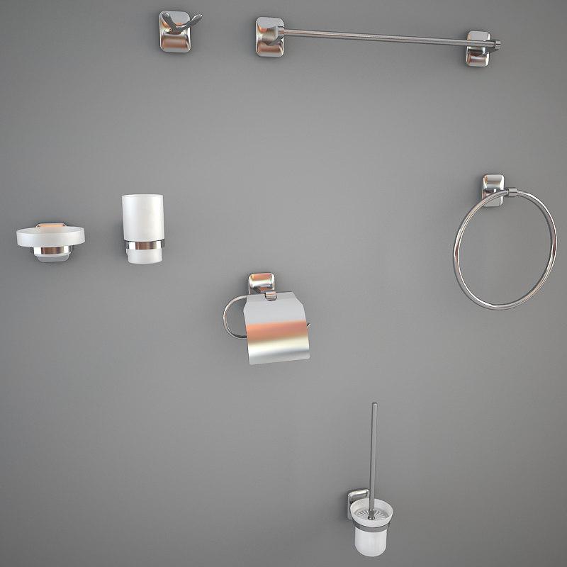3d generic bath accessories
