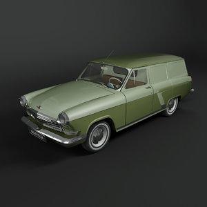 3d gaz-22 van volga car model