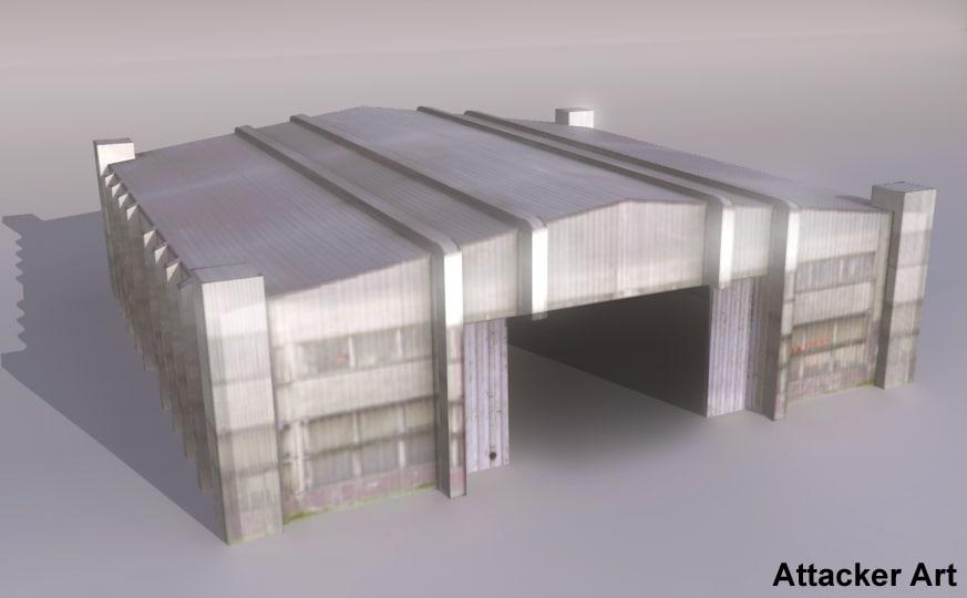 hangar open doors obj