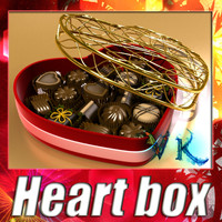 3ds max heart box 8 chocolates