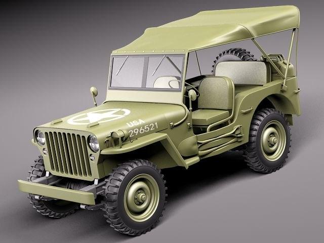 3d model jeep willys. Black Bedroom Furniture Sets. Home Design Ideas