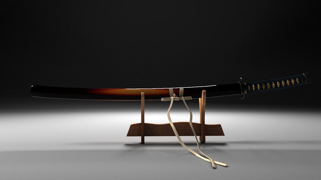 obj katana samurai sword