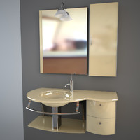 3ds max glass sink mirror