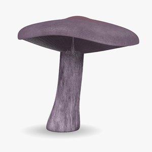 3d model mushroom lepista nuda