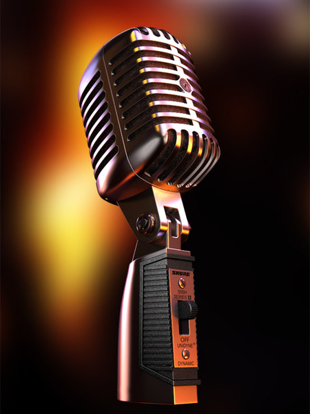 55sh shure microphone 3d 3ds