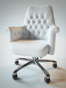 3d office armchair poltrona frau