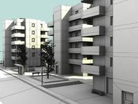 - urban block 3d obj