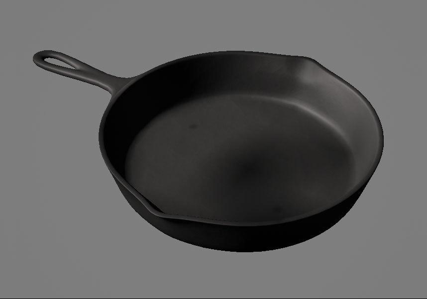 free cast iron skillet 3d model