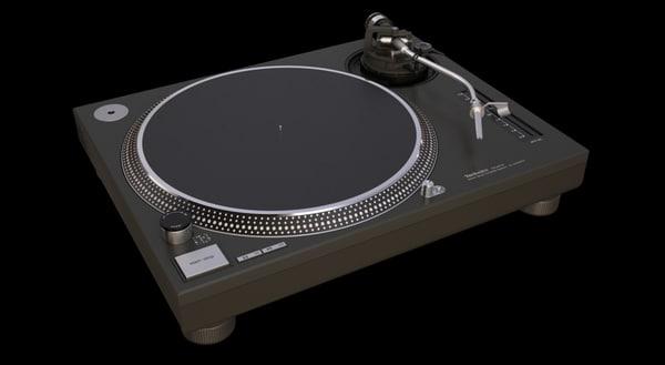 3d technics sl 1210 model