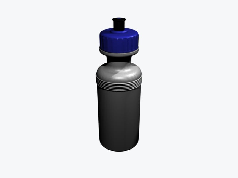 water bottle 3d obj